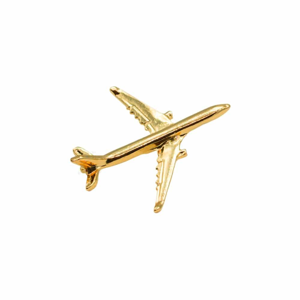Airbus A330 Flugzeug Pin gold
