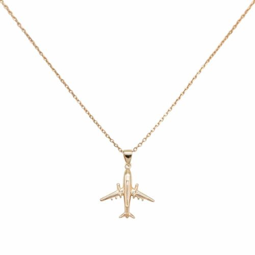 #AIRLINER NECKLACE ROSE GOLD