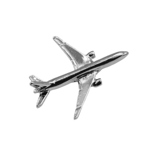 BOEING 777 PIN SILVER