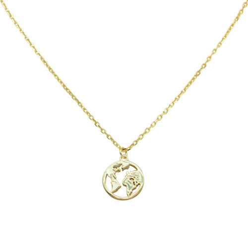 #GLOBE NECKLACE GOLD