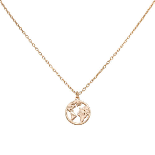 #GLOBE NECKLACE ROSE GOLD
