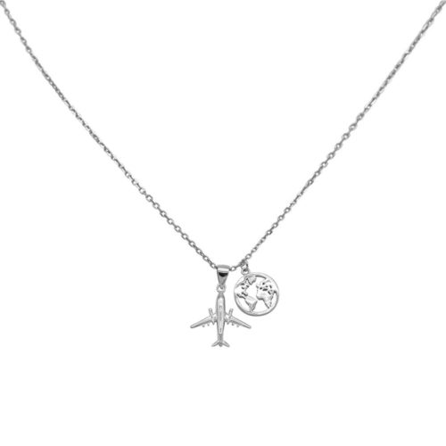 #TRAVELTHEWORLD NECKLACE SILVER