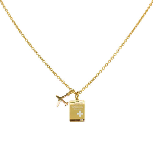 #SWITZERLAND PASSPORT NECKLACE