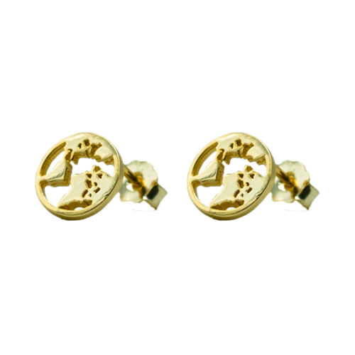 #GLOBE EARRINGS GOLD