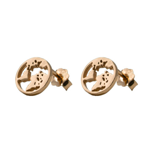 #GLOBE EARRINGS ROSE GOLD