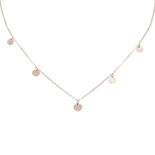 #BUCKETLIST NECKLACE ROSE GOLD
