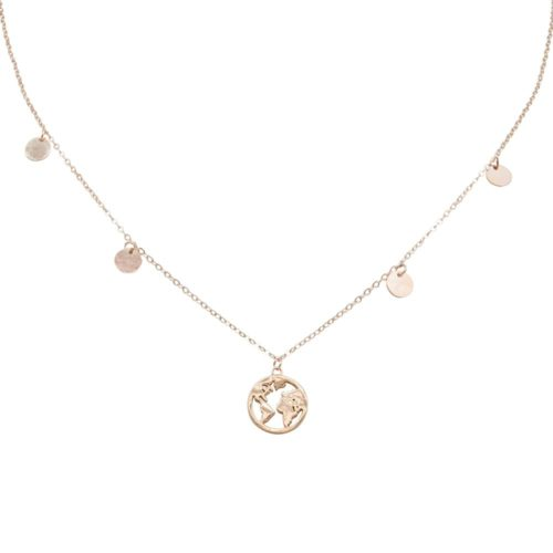 #GLOBETROTTER NECKLACE ROSE GOLD