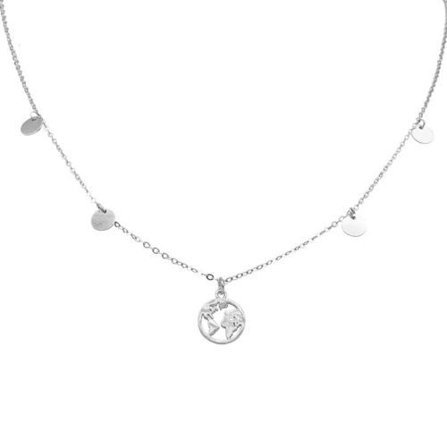 #GLOBETROTTER NECKLACE SILVER