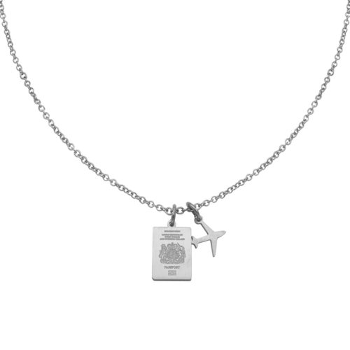 #GREATBRITAIN PASSPORT NECKLACE SILVER